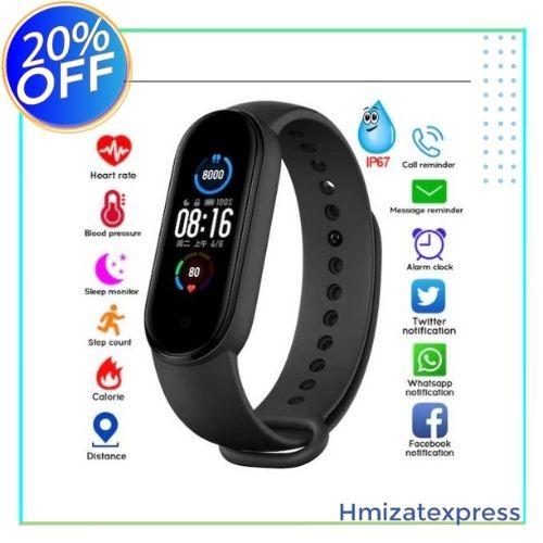 M5 Bracelet intelligent Bluetooth Sport Fitness Tracker podomètre