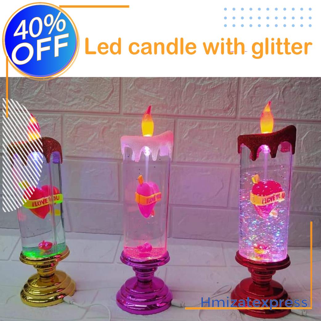 شمعة كهربائية بألوان احتفالية للمناسبات وأعياد الميلاد والحفالات