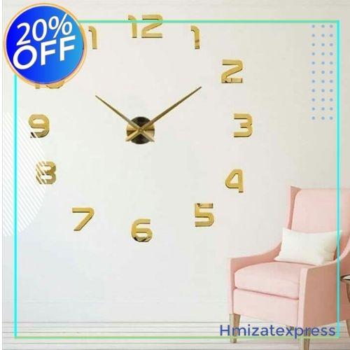 ساعة حائطية معدنية ثلاثية الأبعاد حديثة التصمبم تناسب كل الأذواق