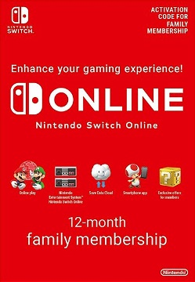 Nintendo Switch Online Family Membership - 12 Months eShop Key EUROPE