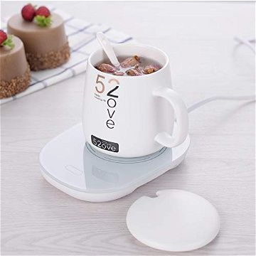 Portable Electric Mug Warmer, USB Heated Coaster Cup Mat Keeping Drink Beverage Tea Warm Heater 55°C for Household Office Workplace Desktop,Single