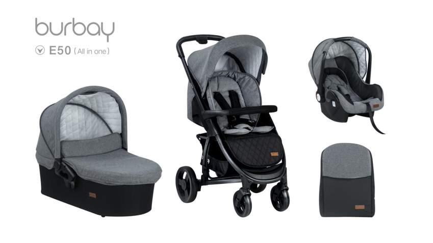 BURBAY-poussette de bébé 3 en 1 | Avec siège d'auto