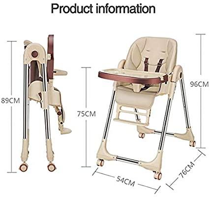 Chaise haute avec plateau Solution réglable