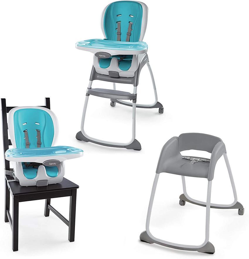 INGENUITY Chaise haute Trio 3-in-1 SmartClean High Chair™ - Vert d'eau