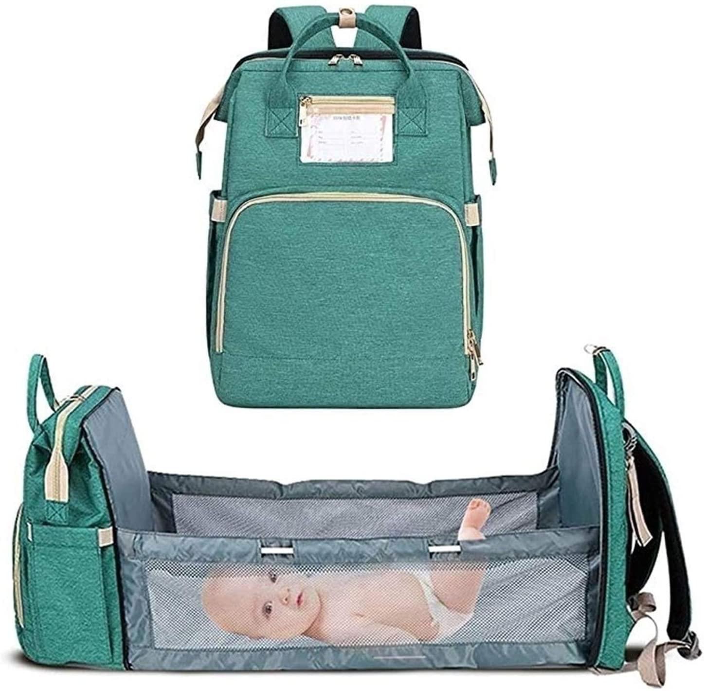 حقيبة ظهر لحفاضات الأطفال و مهد السفر مقاومة للماء
