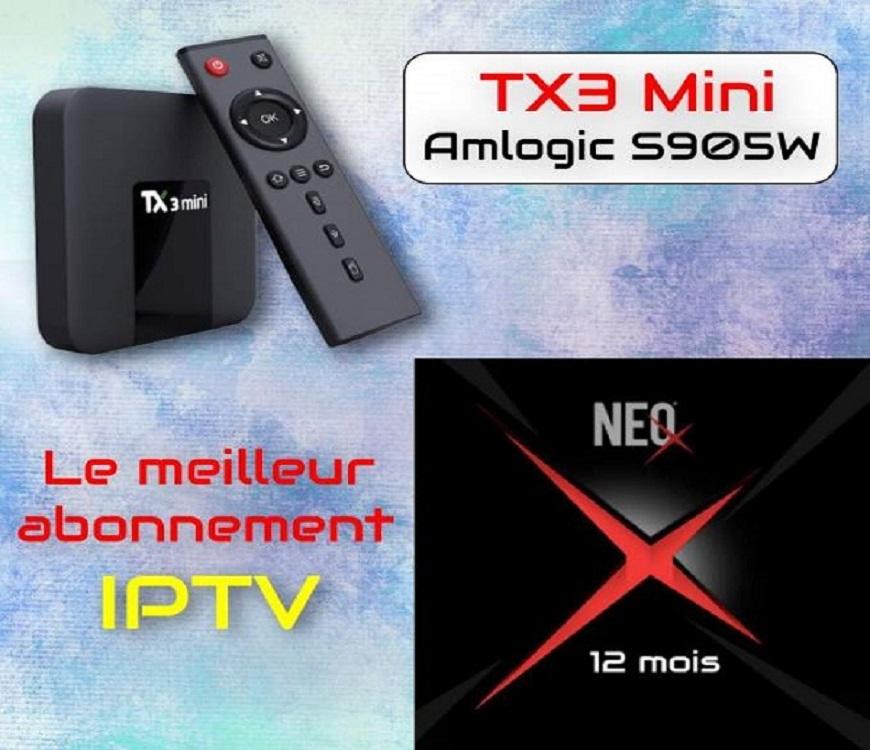 TX3 Mini Amlogic S905W + NEO X H265 IPTV