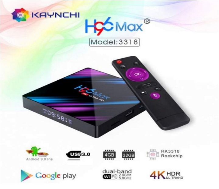 H96 MAX TV BOX 4GB RAM+32GB ROM Android 9