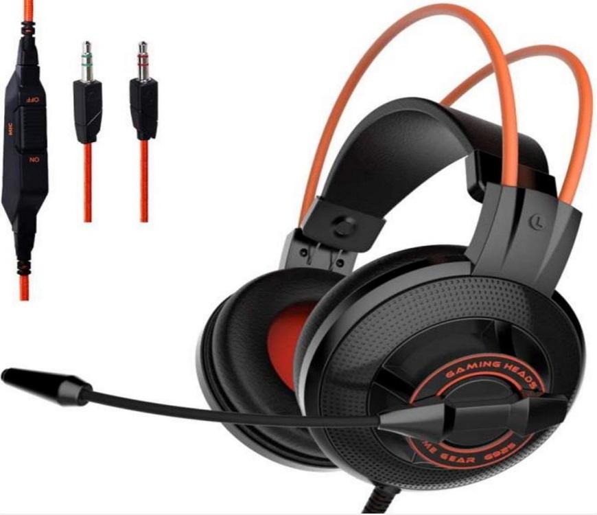 SOMIC G925 Black Orange Casque de jeu stéréo avec microphone