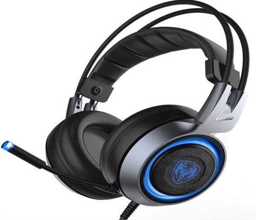 Somic G951 7.1 Casque de jeu Casque avec fonction vibrante Microphone Contrôle vocal
