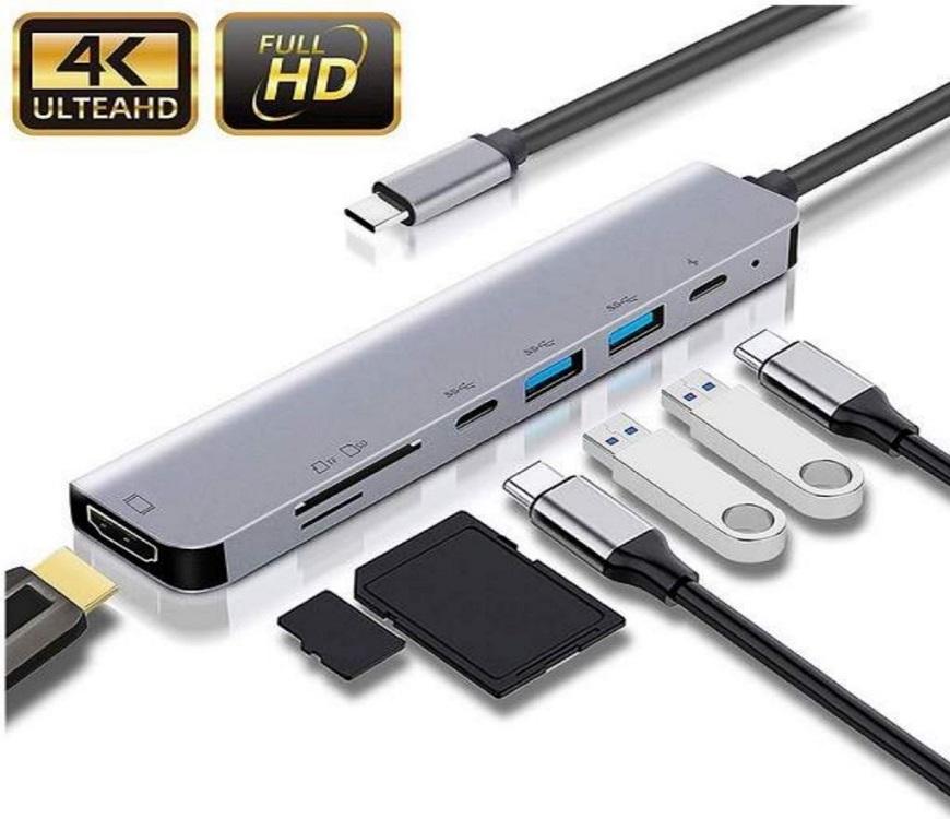 Adaptateur 7 en 1 USB C Hub