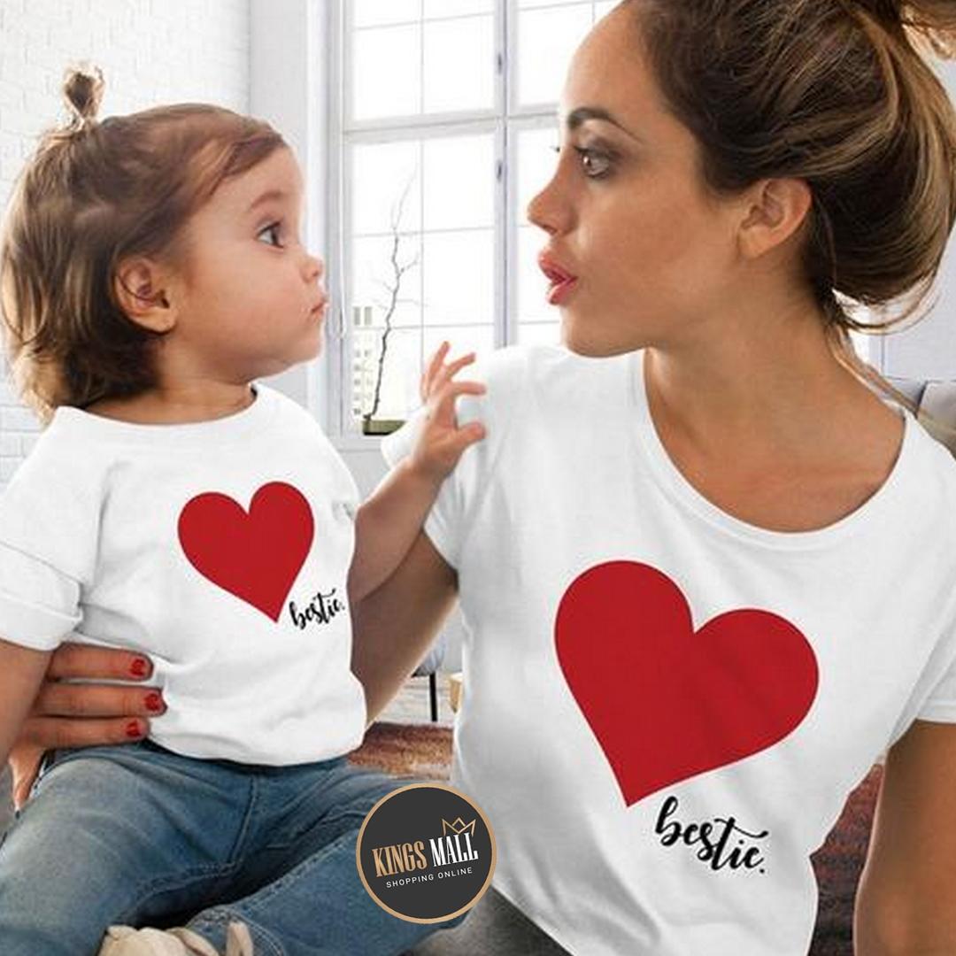 T-shirt Cœur Maman & Baby