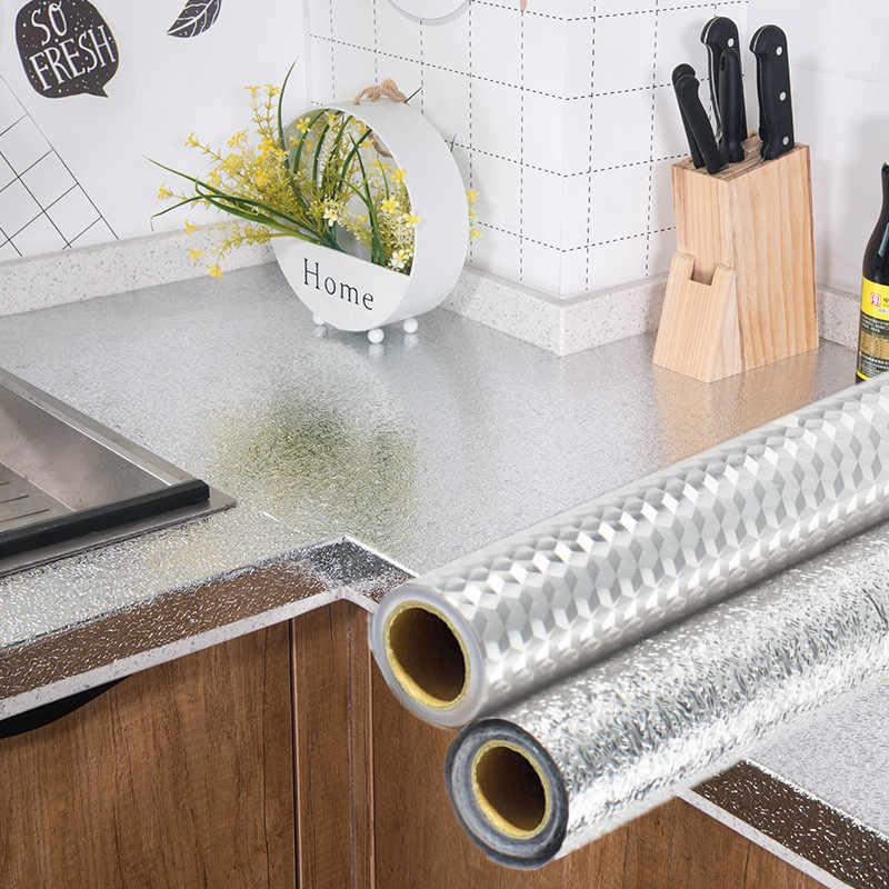 ورق الومنيوم لاصق للمطبخ قابل للقص ومقاوم للماء والزيت - papier aluminium cuisine