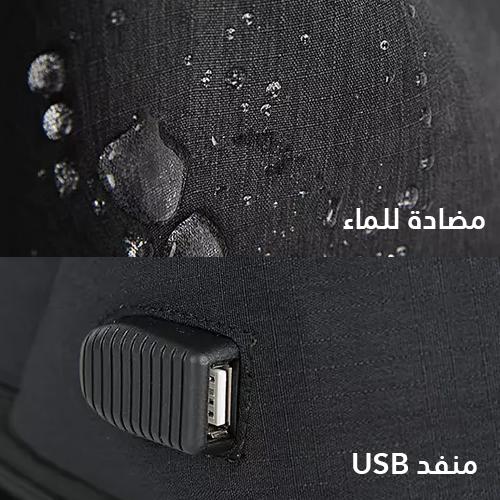 USB حقيبة ظهر مضادة للسرقة، عملية للغاية ، مقاومة للماء مع كابل