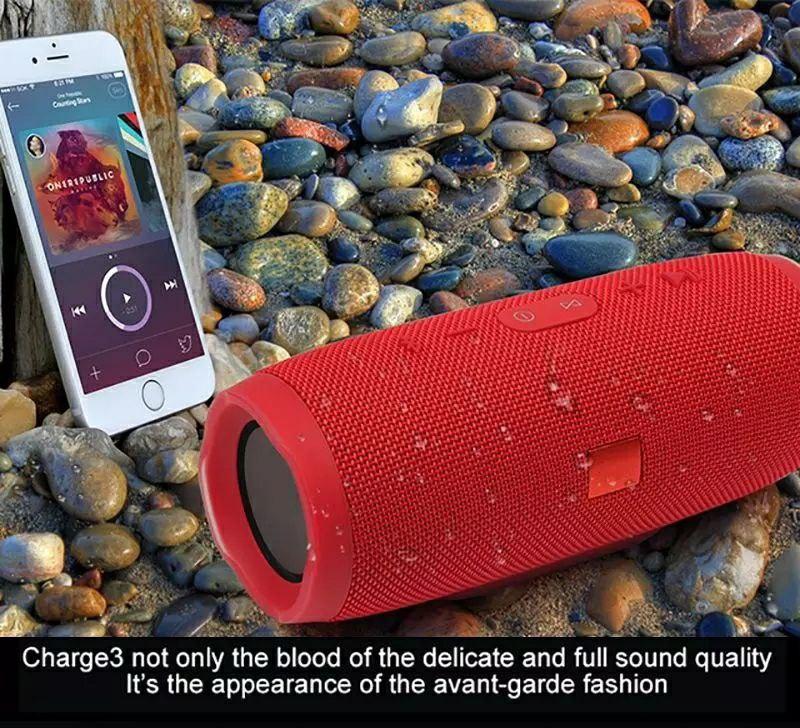 Double Haut-Parleur avec Strap Tambour Sans Fil Bluetooth 10000mah