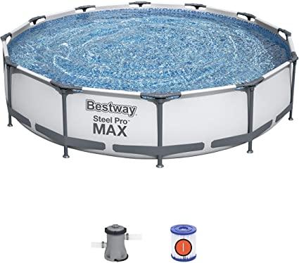 Piscine Bestway Steel Pro MAX 366 x 76 cm pompe et cartouche de filtration