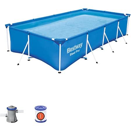 Piscine rectangulaire Bestway Steel Pro Frame Pool Set 400 x 211 x 81 cm