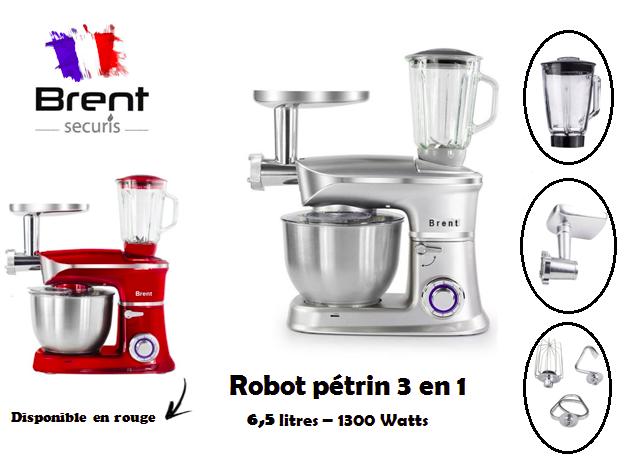 pétrin robot 3 en 1 Brent