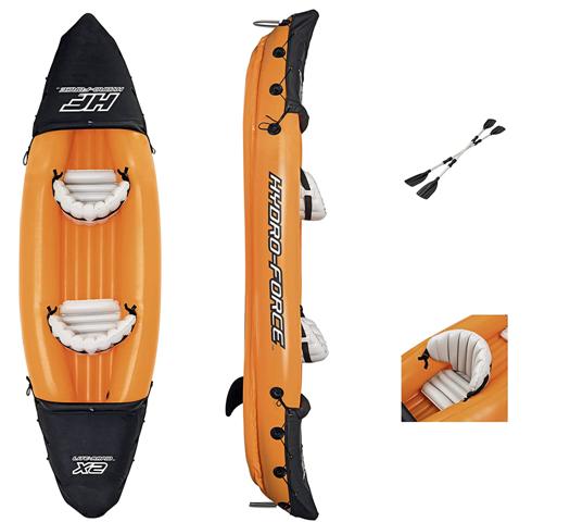 Bestway 65077 Kayak Lite-Rapid 321 x 88 x 42 cm avec 2 pagaies
