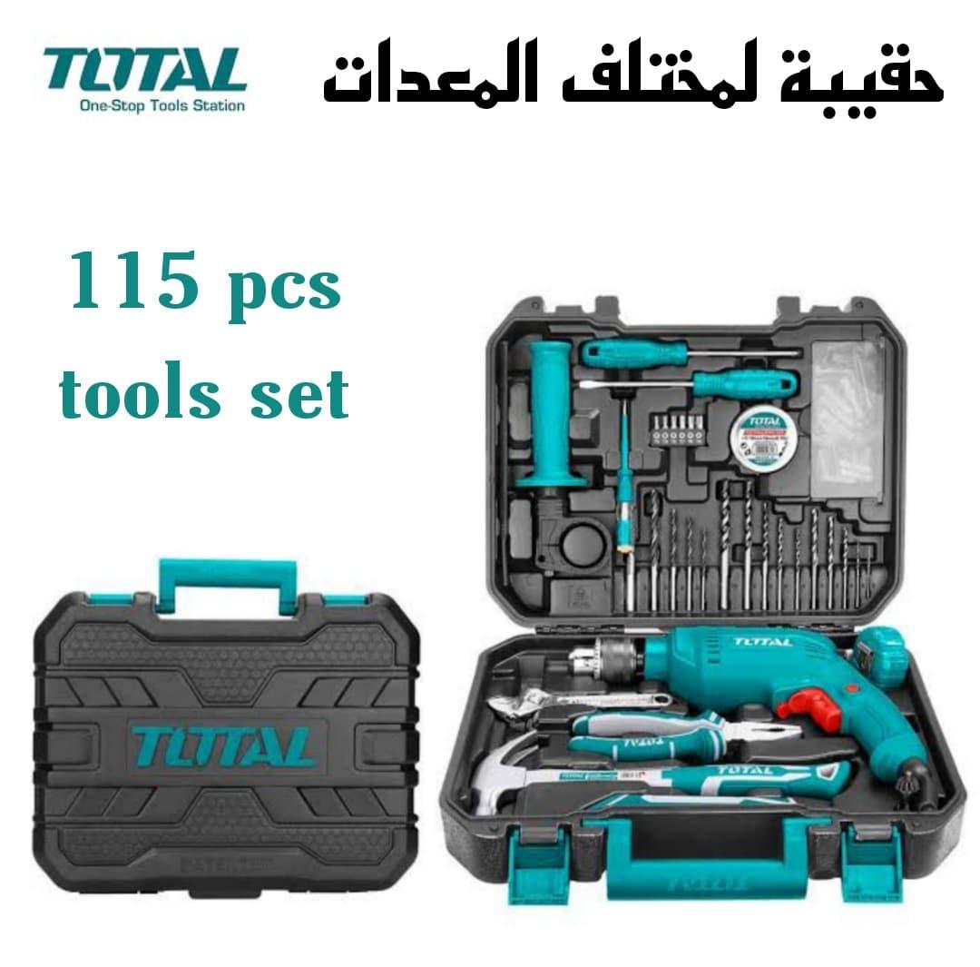 حقيبة لمختلف المعدات 115 قطعة من Total