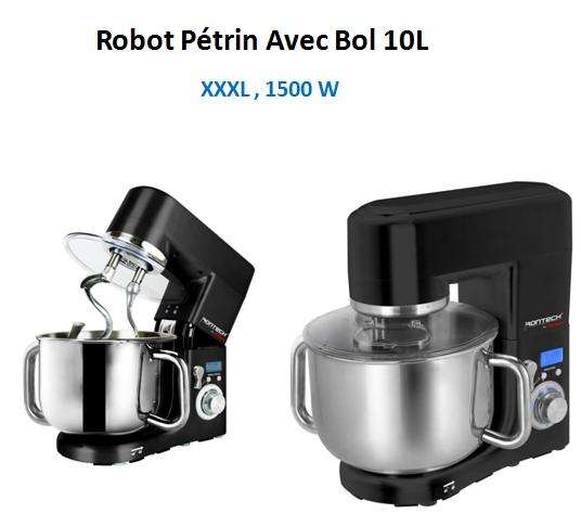 Robot Pétrin Avec Bol 10L 1500W Rontech