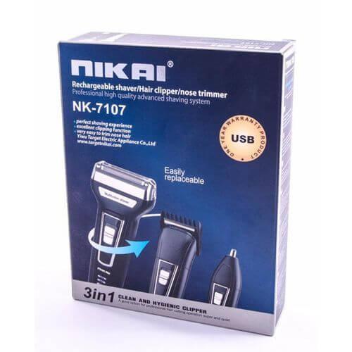 NIKAI 3in1 آلة الحلاقة المقاومة للماء