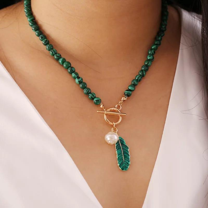 collier bohème en pierre naturelle pour femmes