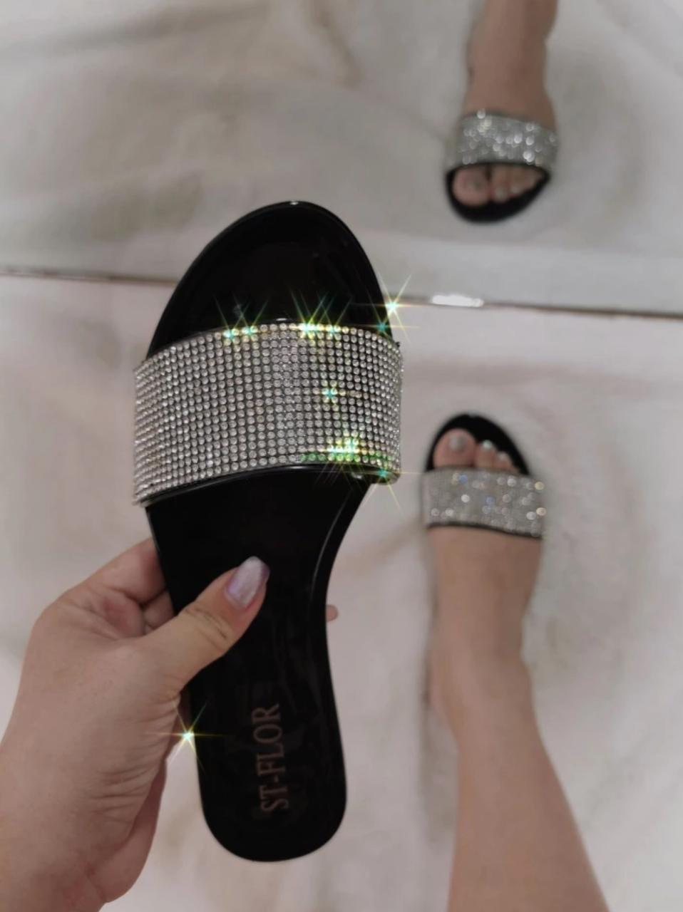 Sandale d'été en Cristal brillant
