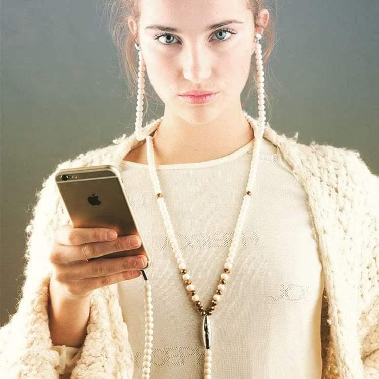 👸Très jolie👸  Collier de perles écouteurs en couleur