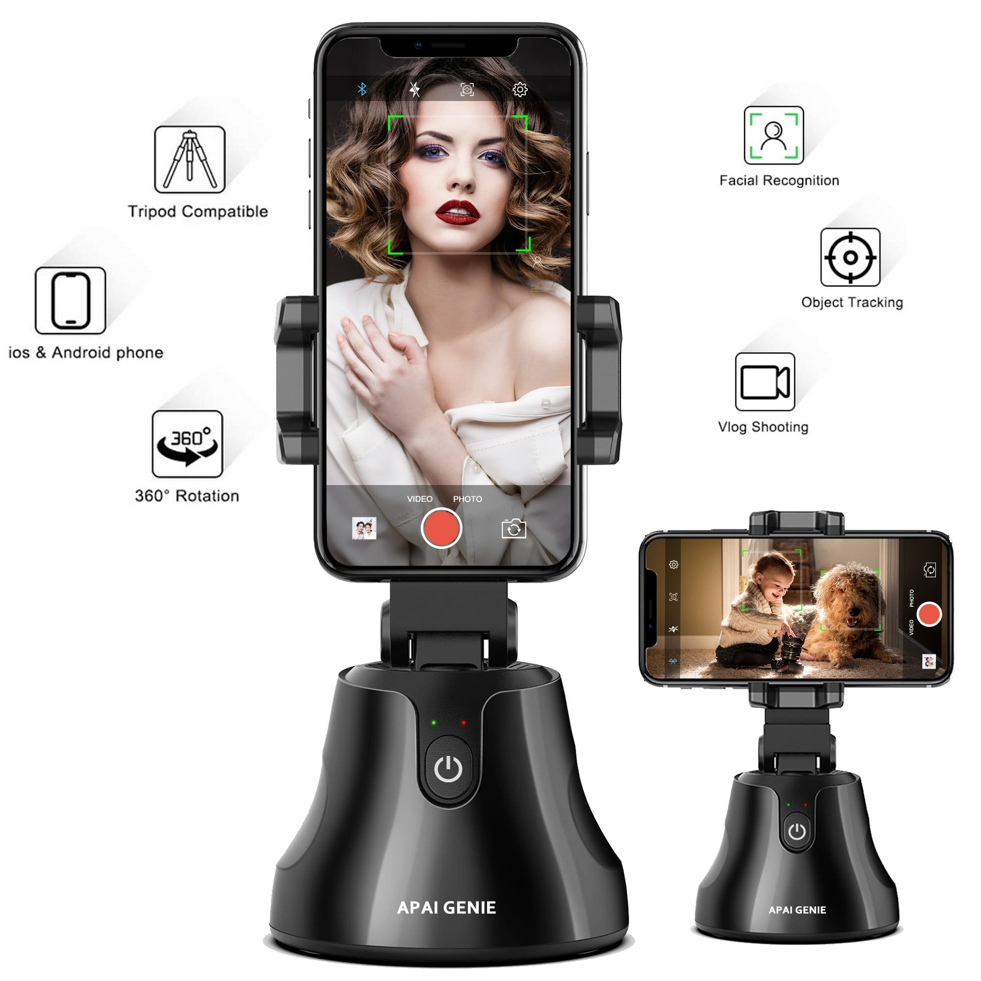 Apai Genie Support de téléphone intelligent rotatif à 360° pour suivi du visage et des objets