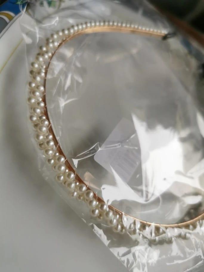 Bandeau avec de grandes perles pour femmes importées