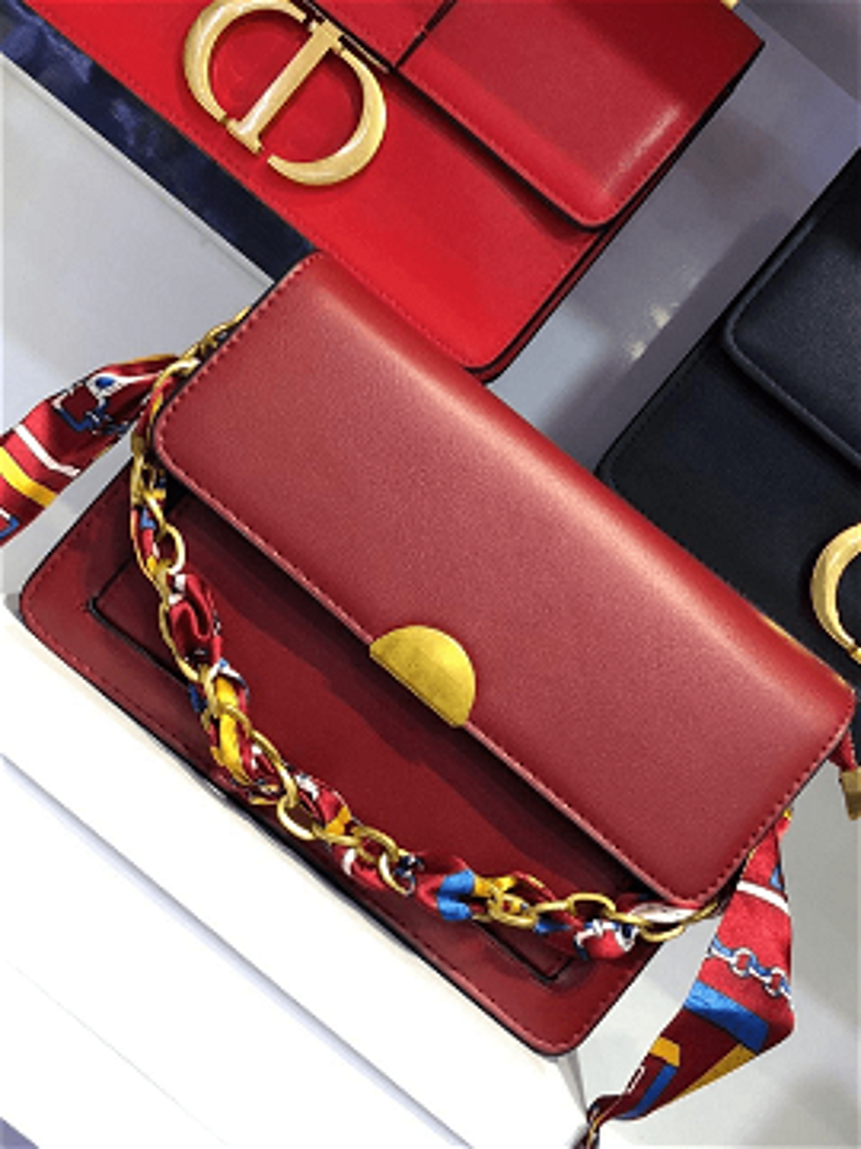 Satin Top Handle Shoulder Bag charles& keith