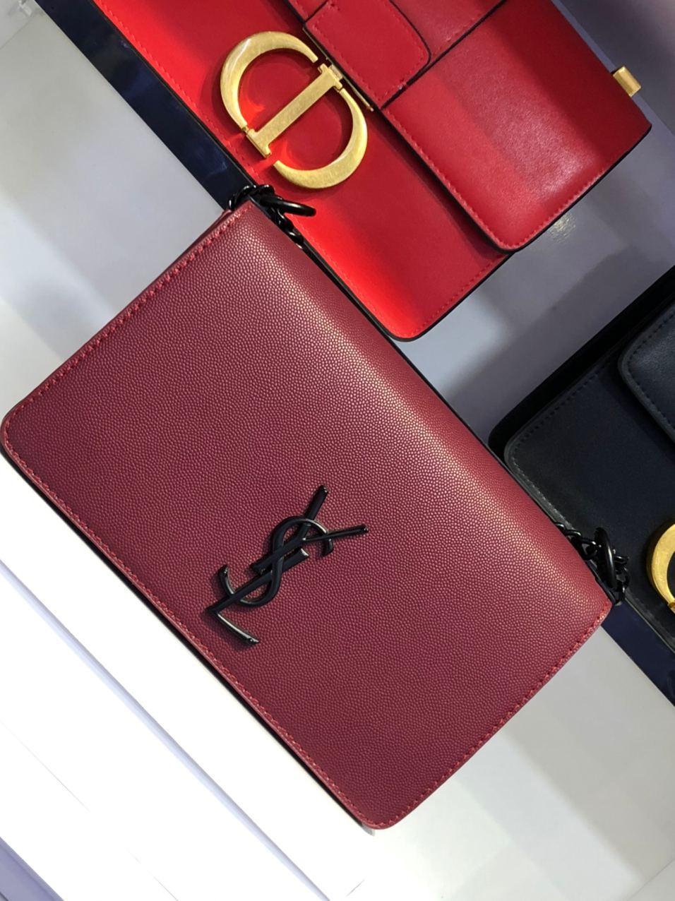 SOLFERINO medium satchel en cuir BOX SAINT LAURENT