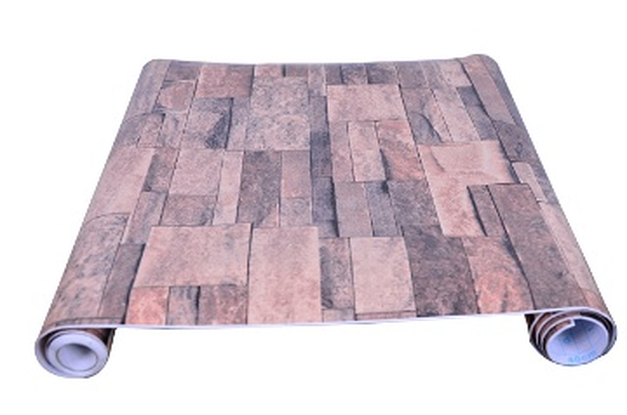 papier peint adhesif brique 5M*45CM