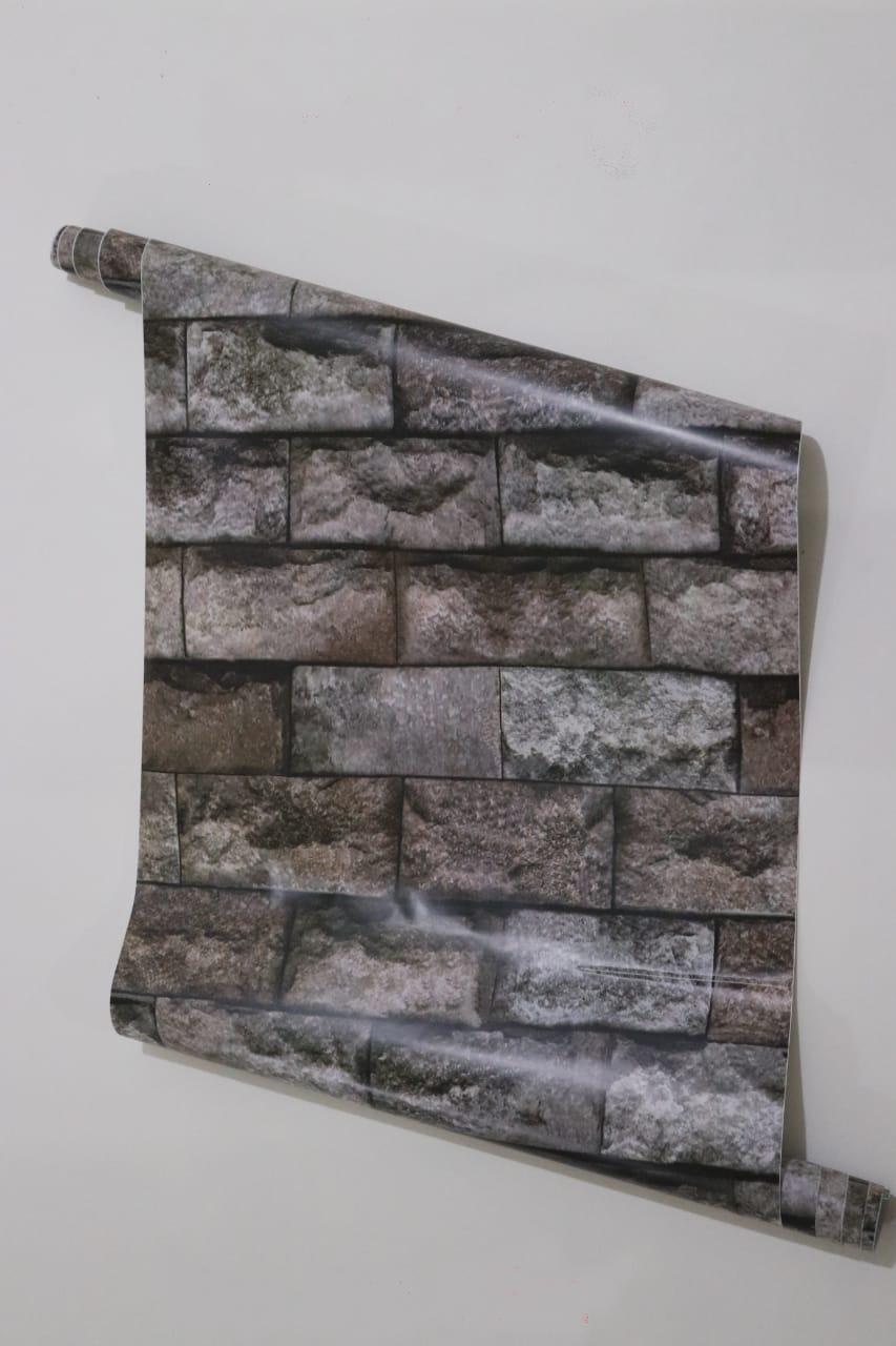 papier peint adhésif rouleau de 5M*45CM brique 3D