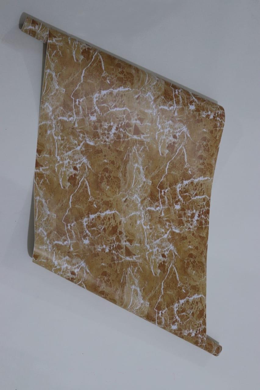 papier peint adhesif 5 metr sur 45 cm autocollant MARBRE orrange