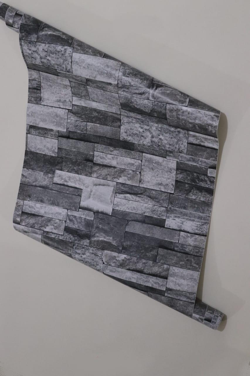 papier peint adhesif 5 metr sur 45 cm autocollant brique gris