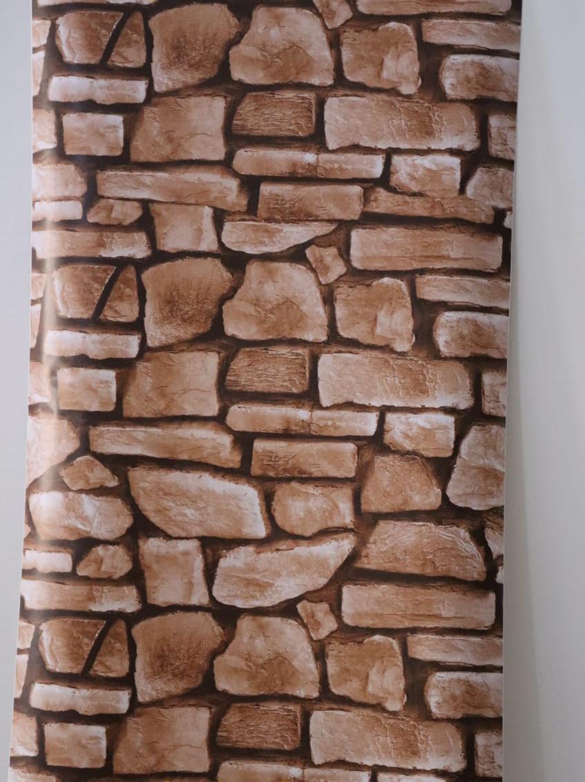 papier peint adhesif 5 metr sur 45 cm autocollant brique marron