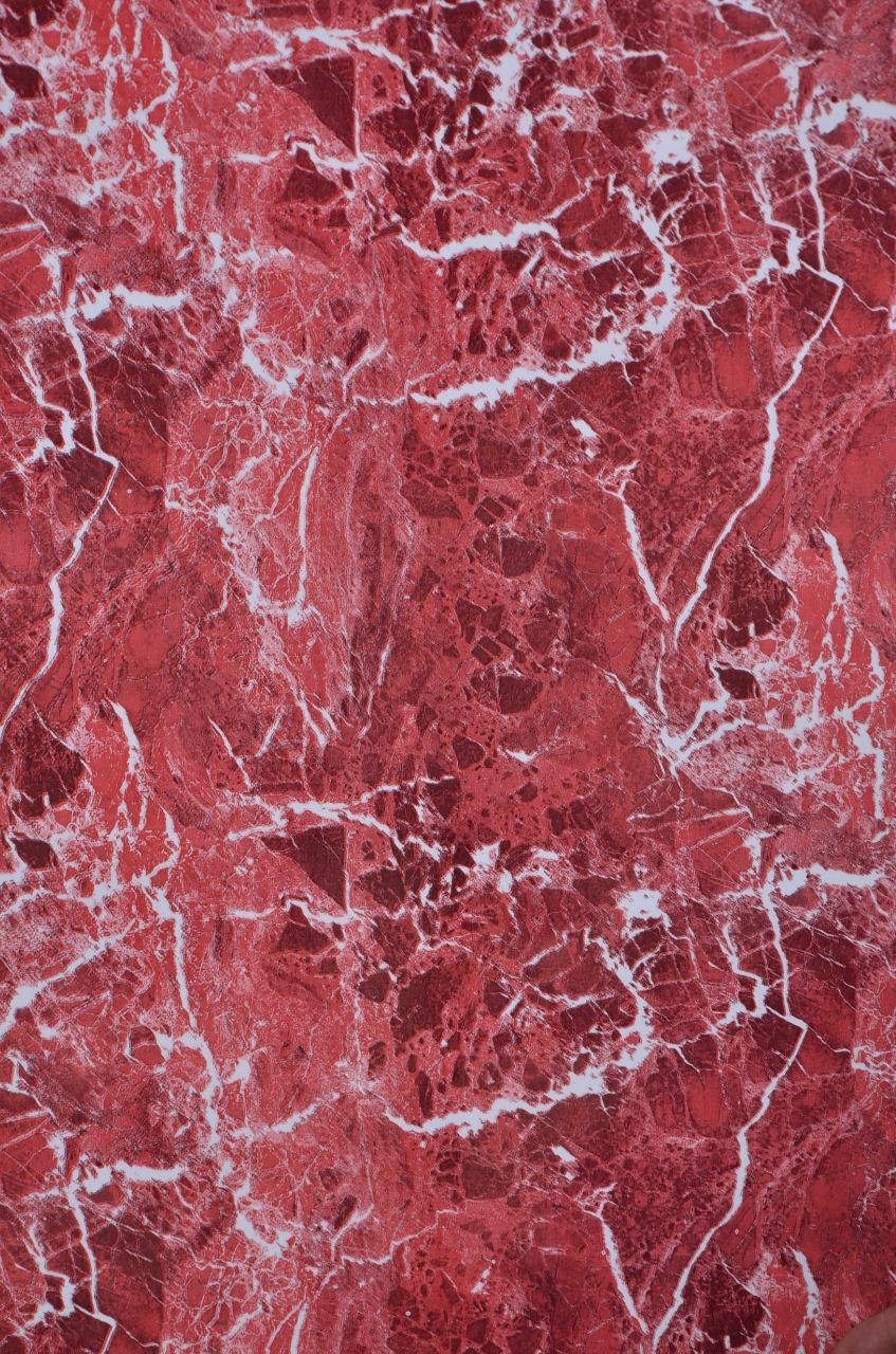 0619421241     papier peint adhesif  5M*45CM marbre rouge