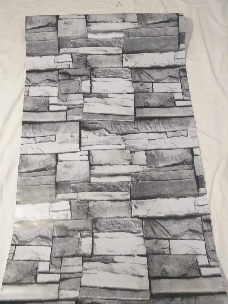 0619421241     papier peint adhesif pierre gris 5 metr sur 60 cm