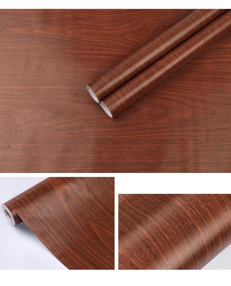adhesif pour meuble marron
