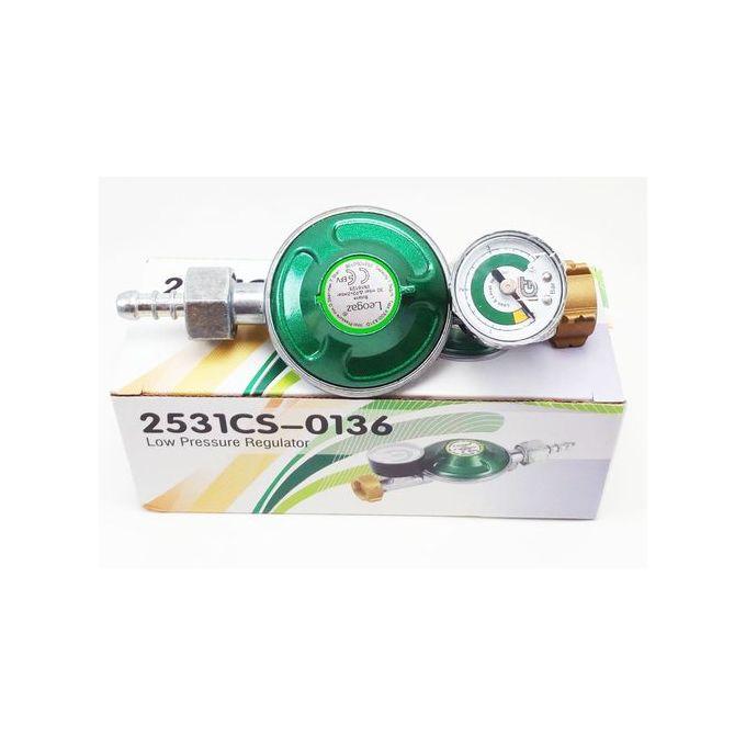 0619421241      Détendeur à gaz // Régulateur de gaz // Dispositif de sécurité avec manomètre couleur vert