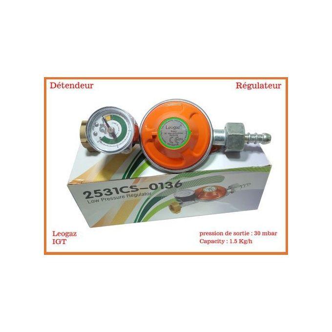 0619421241      Igt Détendeur à gaz // Régulateur de gaz // Dispositif de sécurité avec manomètre couleur orange