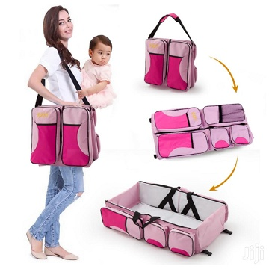 Sac à langer et lit portable pour bébé 2 en 1
