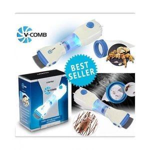 V-COMB Peigne pour éliminer les poux et les lentes - idéal pour éliminer les poux facilement et naturellement