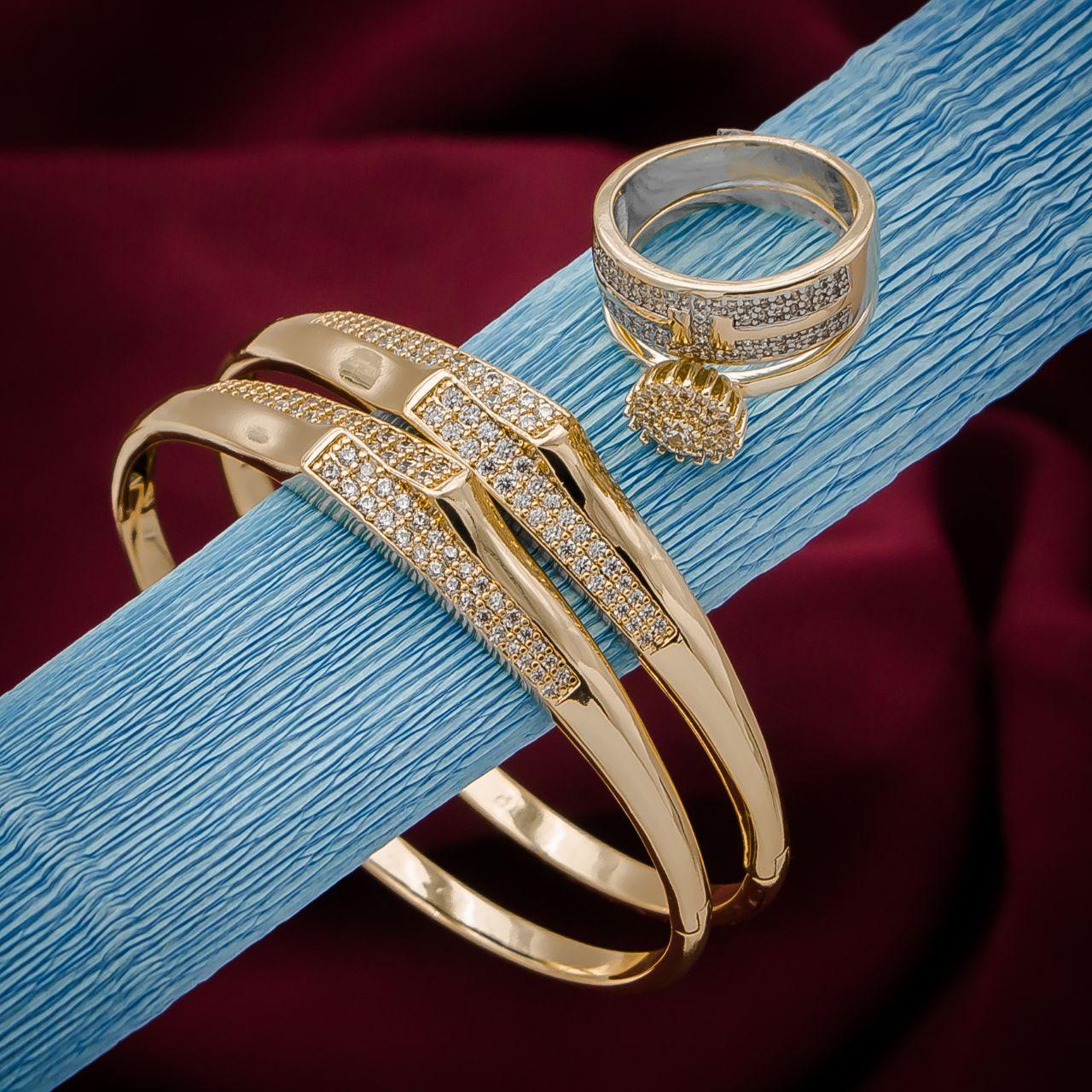 مجموعة الفخامة 2 تتكون من 2 براسلي وخاتم + علبة واقية بالمجان