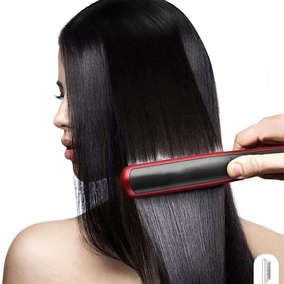 Brosse Hair Straightener Lissante et Chauffante - Rouge LCD