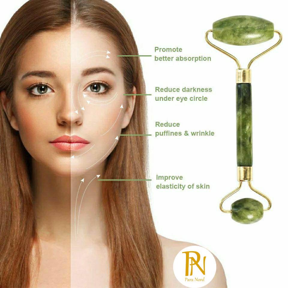 Rouleau en pierre de jade 100% naturel  pour le visage