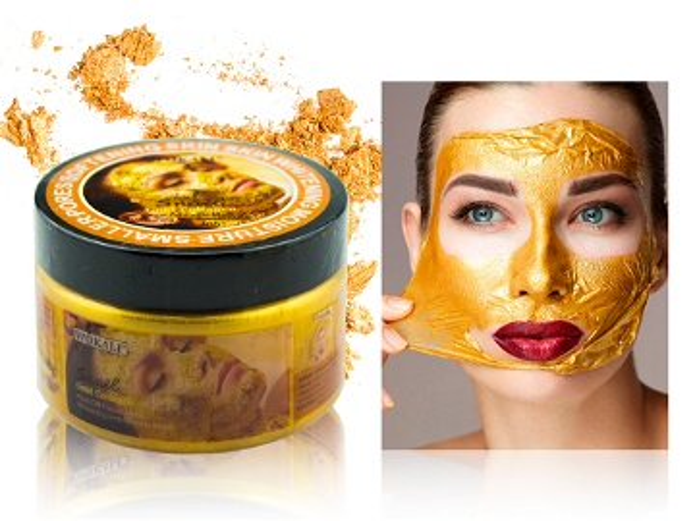 قناع الحلزون الذهبي والكولاجين لتصفية الوجه