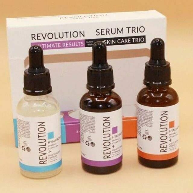 طقم ثلاثي للعناية بالبشرة revolution serum trio