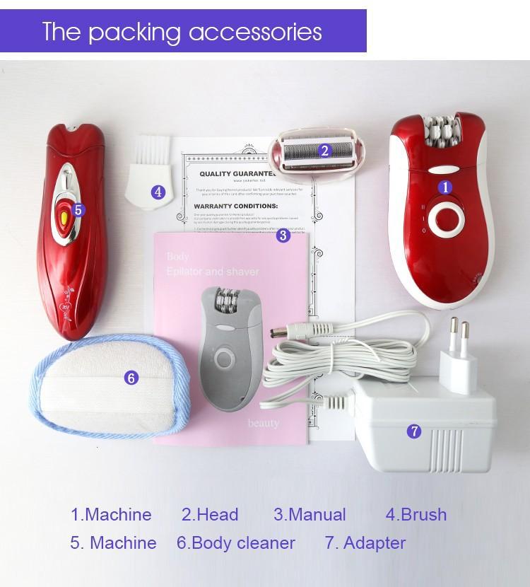 3 في 1 Kemei ماكينة إزالة الشعر من الوجه والجسم